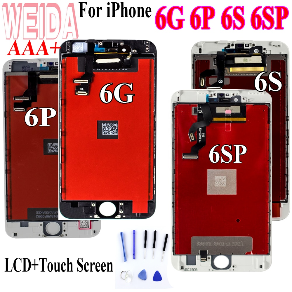 WEIDA Test For iPhone 6 6S 6P 6S Plus LCD Display Screen Digitizer Assembly For iphone 6 LCD for iphone 6S lcd for iphone 6 Plus