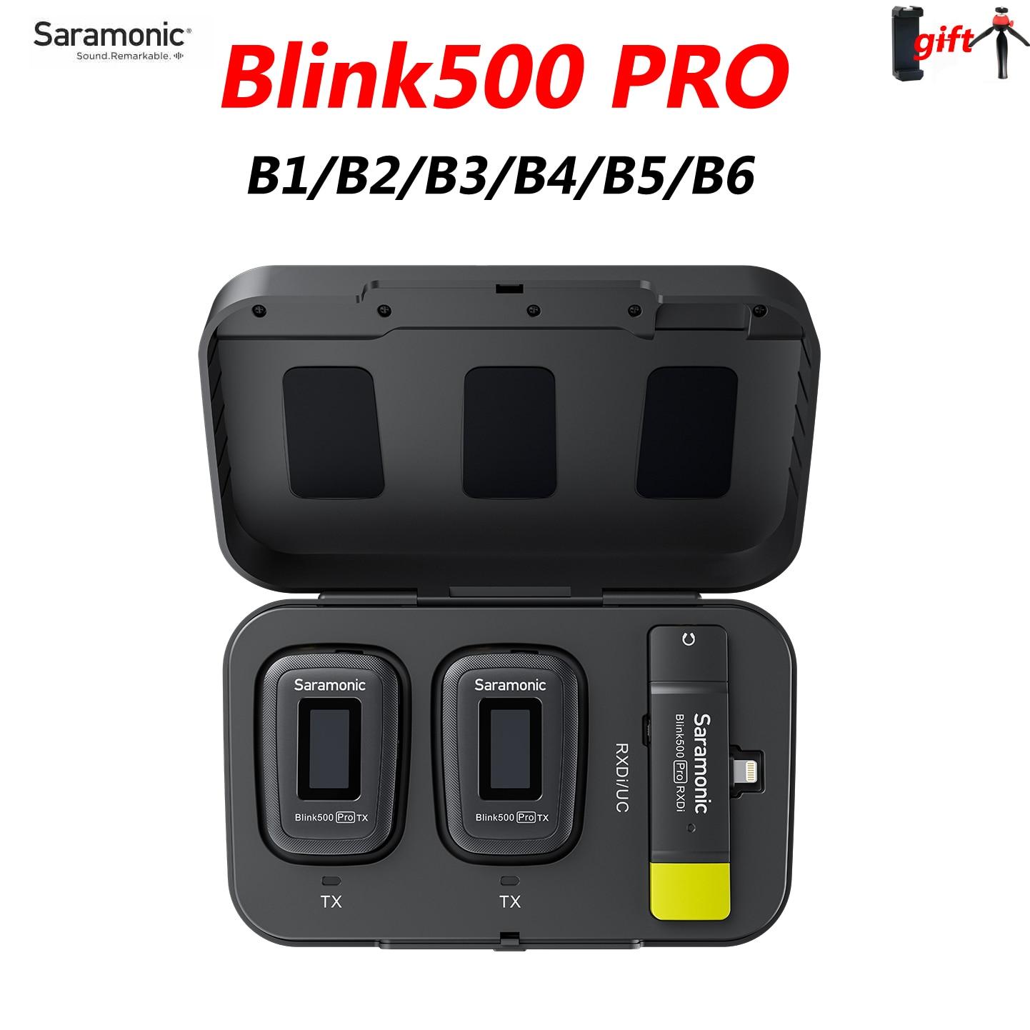 Get Saramonic Blink500 Blink 500 Pro B3 B4 B5 B6 B1 B2 Wireless Lavalier Microphone Condenser Mic for Android Phone IPhone camera