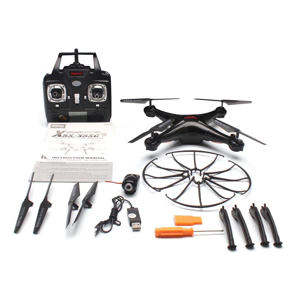 SYMA X5SC 2.4G RC Drone Smart Quadcopter Aircraft with 720P HD Camera Headless Mode 3D Flips Speed Mode SYMA X5SC Model Drone