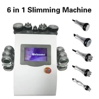 6 in 1 vacuum ultrasound cavitation radio frequency slimming cellulite remover device lipo laser pon led skin care body weight