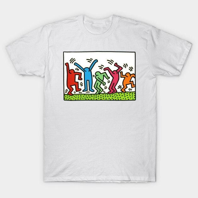 Hombres camiseta Keith Haring camiseta mujer camiseta