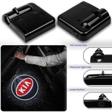 2 pièces sans fil Led porte de voiture bienvenue Laser projecteur Logo fantôme ombre lumières pour KIA K2 K3 K5 k9 Sorento Sportage Rio accessoires