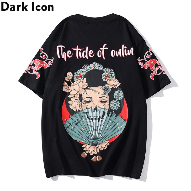 Dark Icon Harajuku camiseta hombres mujeres 2020 verano cuello redondo Hipster camiseta pareja camisetas
