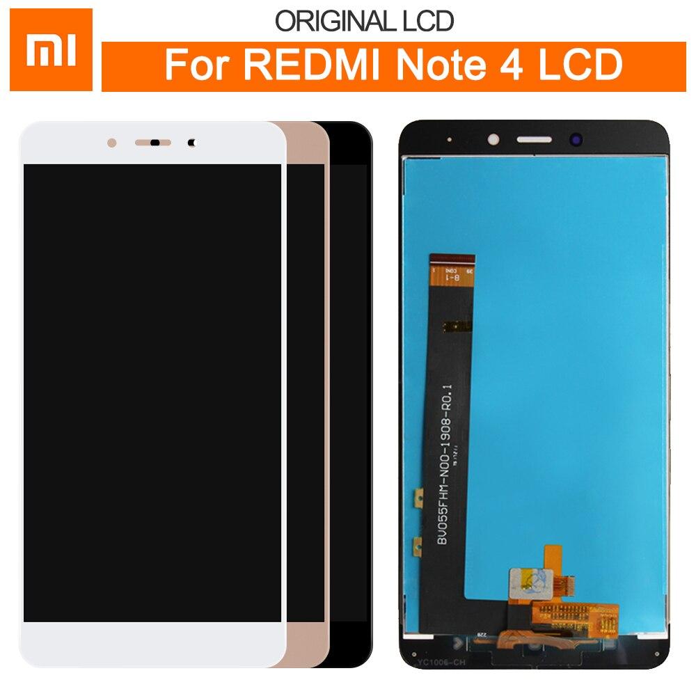 "Original para 5,5 ""Xiaomi Redmi Note 4 MTK Helio versión pantalla LCD + pantalla táctil Panel digitalizador montaje reemplazo"