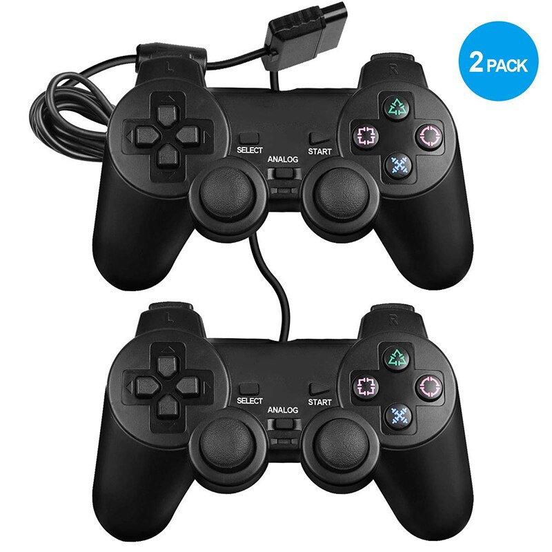 Dualshock 2 controller for PS2 Built-in-Double Vibration Motors video game consoles with Sensitive Control for All PS2 Models wired gamepads for sony ps2 controller for mando ps2 ps2 joystick for plasystation 2 double vibration shock joypad геймпад game