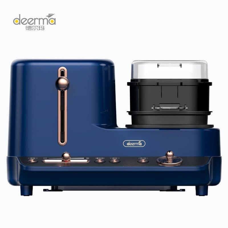 Deerma ماكينة الخبز الإفطار آلة محمصة آلة طهي البيض مقلاة كهربائية محمصة المنزلية متعددة الوظائف DEM-ZC10
