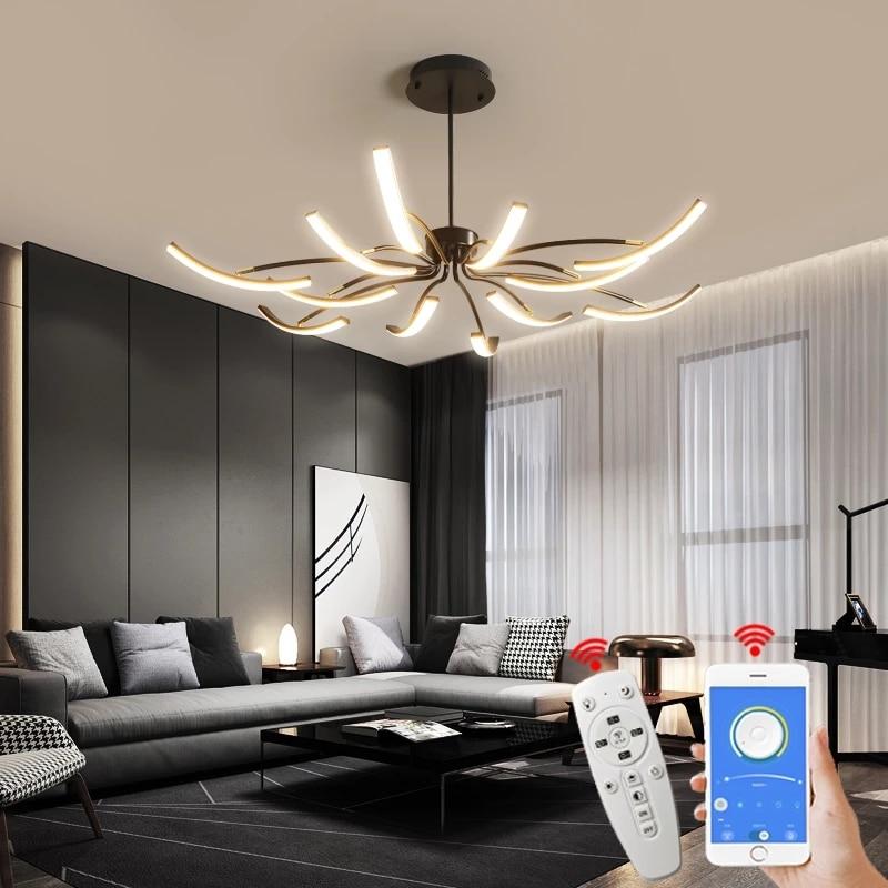 مصباح سقف led معلق بتصميم حديث ، متوفر باللونين الأسود والأبيض والذهبي ، وهو مثالي لغرفة النوم أو المكتب أو غرفة المعيشة.