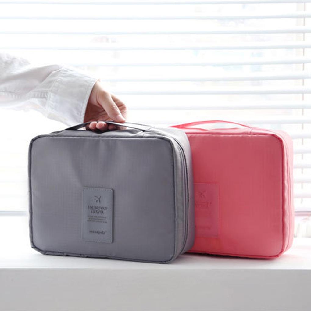 Reise Kosmetik Make-Up Toiletry Fall Waschen Organizer Tasche Kleidung Pouch Tragbare Lagerung Fall Gepäck Koffer