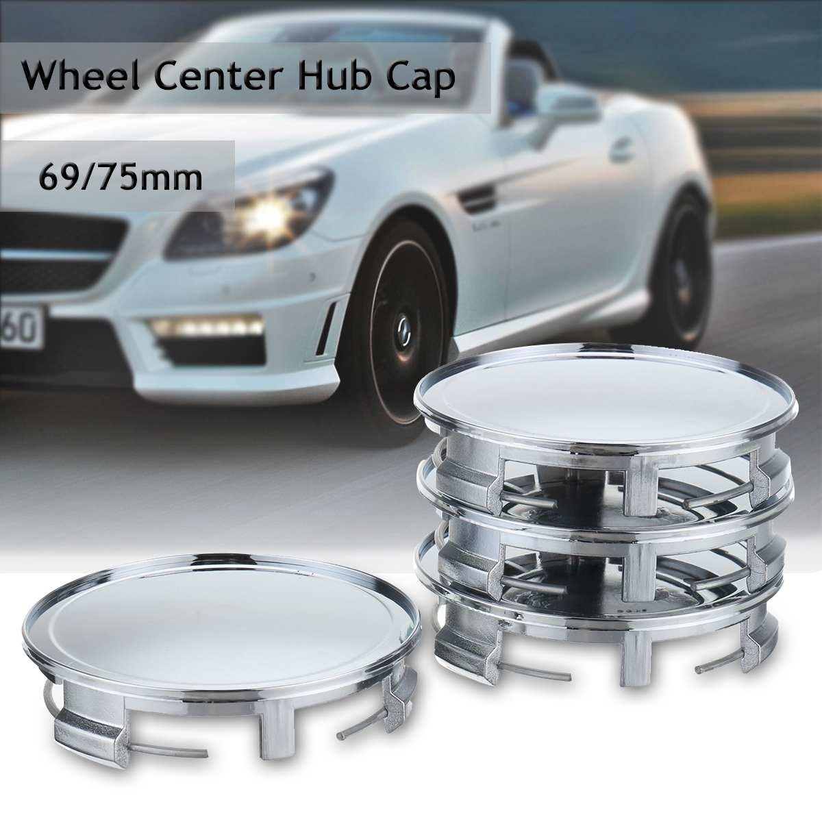 4 stücke 75mm Auto Chrom Rad Center Hub Abdeckung Kappe Radkappen Universal Für Mercedes/Benz S M G SLK CLK GLK Klasse