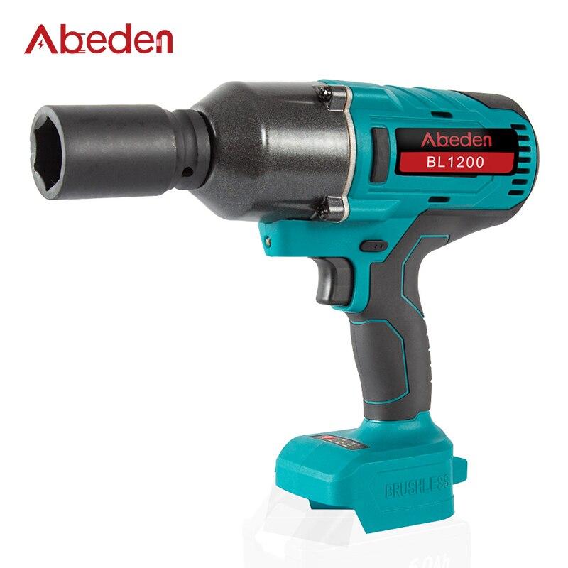 Abeden عزم دوران عالية 3/4 مفتاح برغي كهربائي 1200 N.M لماكيتا 18 فولت بطارية لاسلكية برغي مفتاح بانة أدوات كهربائية للسيارة