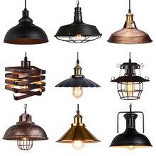 Luces colgantes Vintage para Loft, lámpara nórdica Retro Industrial, iluminación para el hogar, sala de estar, cocina, decoración