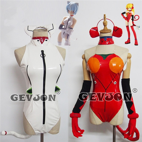 ¡Gran juego! EVA Ayanami Rei Asuka Langley Soryu Sexy gato cosplay coatume Halloween mujer mono
