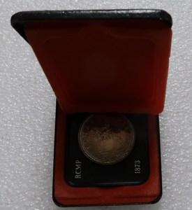 Real Rare Silver Original Coin Canadian 1 Dollar Silver Coin 1973 Royal Canadian Mounted Police Centennial Silver Coin