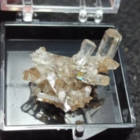 natural columnar aurora calcite crystal mineral halo healing geology teaching home decoration collection jewelry gift box