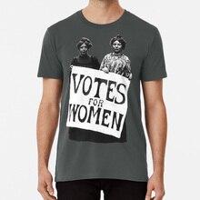 Женская футболка с надписью Votes sufragette feminist 1800s