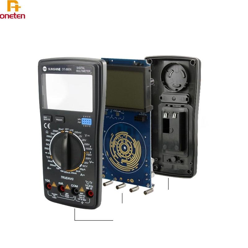 Multímetro electrónico de alta precisión Sunshine DT-890N para reparación de tarjeta madre de teléfono móvil multímetro de pantalla Digital