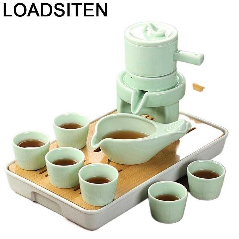 Aksesuarlar Keukenhulpjes الصين مطبخ حديقة الكونغ فو ديكور غرفة نوم الصينية إكسسوارات ديكور منزلي وعاء إبريق الشاي طقم شاي