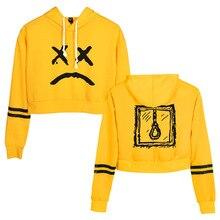 Enfer Garçon Lil Peep sweat à capuche court Harajuku Courte Sweat Streetwear Hip Hop Manches Longues hauts pullover Sudaderas Mujer