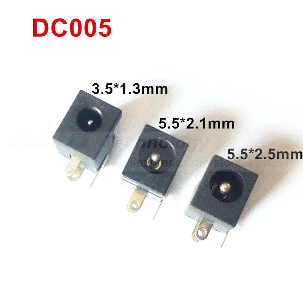 Dc adaptador de alimentação dc jack conector dc005 5.5x2.1mm 50 pçs/lote frete grátis