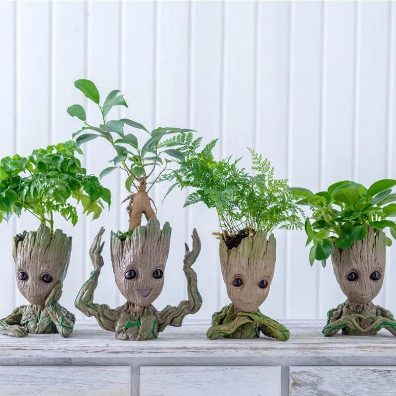 Ghiveci de flori ghiveci figurine copac om model drăguț jucărie ghiveci ghivece grădină jardiniere ghiveci de flori