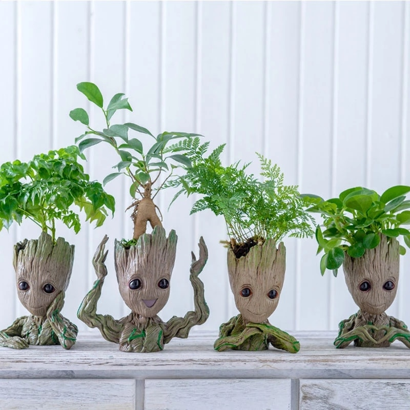 Bunga pot penanam patung pohon lelaki model lucu mainan pena pot taman pekebun pot bunga