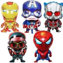 Grands ballons à feuille Avengers Spiderman Batman   Décor de fête danniversaire pour enfants, décoration de mariage super-héros Superman, cadeau en ballon à hélium