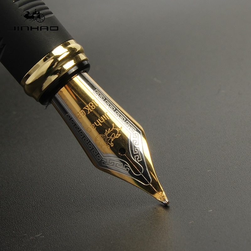 Jinhao X450 Classics Thick Body 1.0mm Bent Nib Calligraphy Pen High Quality Metal Fountain Pen Luxury Ink Gift Pens for Writing high quality jinhao metal snake fountain pen luxury calligraphy ink pen iraurita cobra 3d pattern gift 0 5 nib office supplies