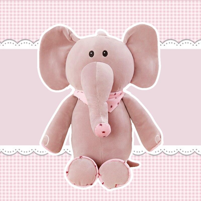 Elefante de peluche de algodón de 50-80 cm, juguete de peluche con muñeco durmiendo
