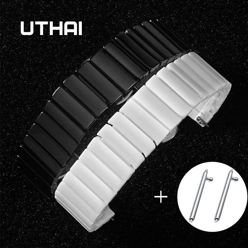 UTHAI C03 Ceramic 20/22/24mm correa de reloj 20/22mm correa de reloj para Samsung reloj de alta calidad para moto II reloj