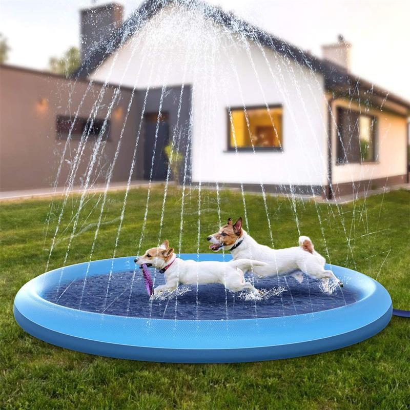 Pet Sprinkler Pad Play Cooling Swimming Pool Outdoor Inflatable Water Spray Pad Mat Tub Fountain Play Mat For Dog Kids