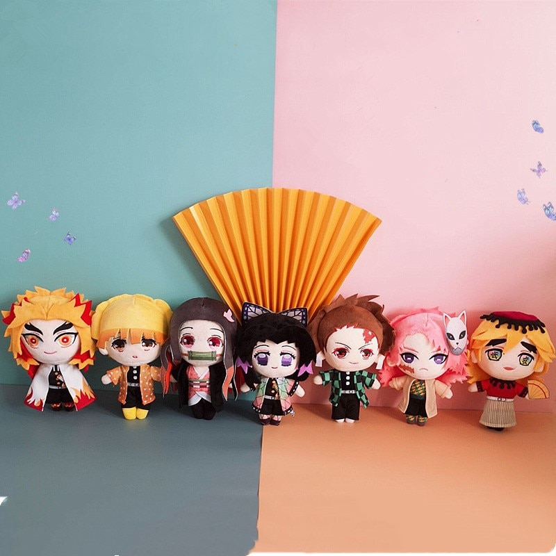 Demon Slayer Kimetsu No Yaiba косплей реквизит DIY Tanjirou Nezuko Кукла мультфильм периферийный подарок плюшевая игрушка