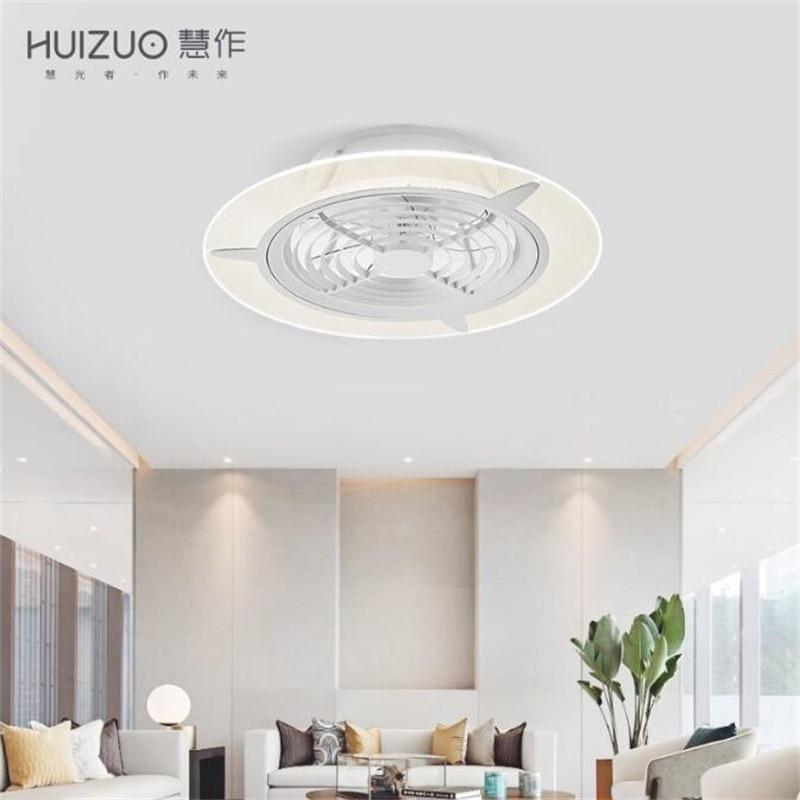 Youpin HuiZuo-مصباح مروحة سقف ذكي ، مصباح داخلي غير مرئي ، أبيض ، FS33 FS34