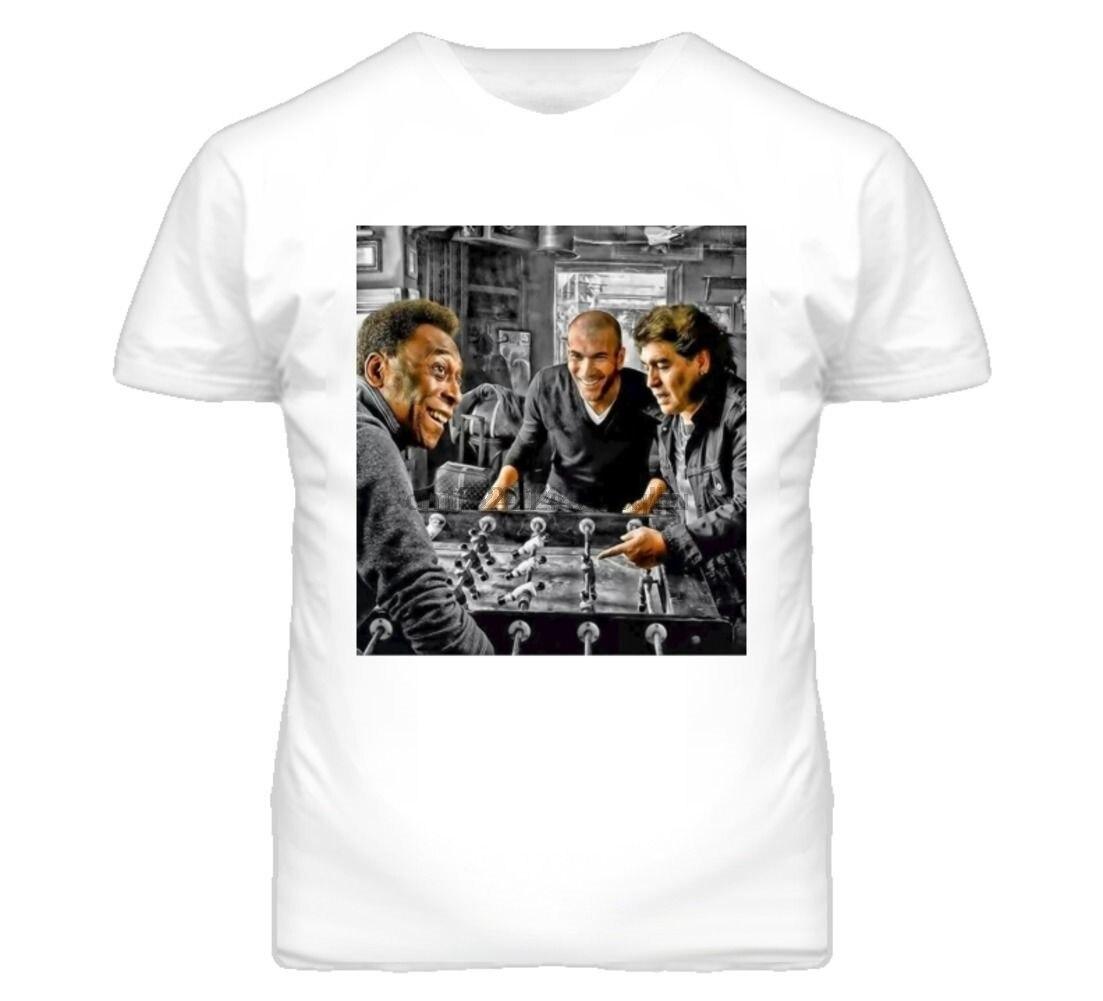 Camiseta de 014262 con Zidane, el rey Maradona Pel Futbolito