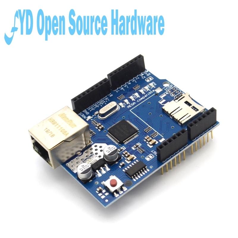 10 Uds Shield Ethernet Shield W5100 R3 UNO Mega 2560 de 1280 de 328 de la UNR R3 W5100 Placa de desarrollo para arduino
