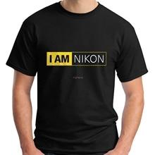 Nuevo I AM NIKON-cámara Logo negro para hombre Camiseta talla S-3XL Hip Hop camisetas divertidas Streetwear