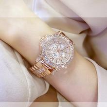 Роскошные Брендовые женские часы с бриллиантами, модные креативные Дамские Кварцевые часы из розового золота, женские наручные часы с браслетом, Relojes Mujer 2020