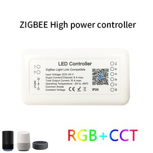 2021 New Tuya Zigbee 3.0 Smart LED Controller RGB+CCT 6pin Light Strip Controller APP Control Work With Alexa Google