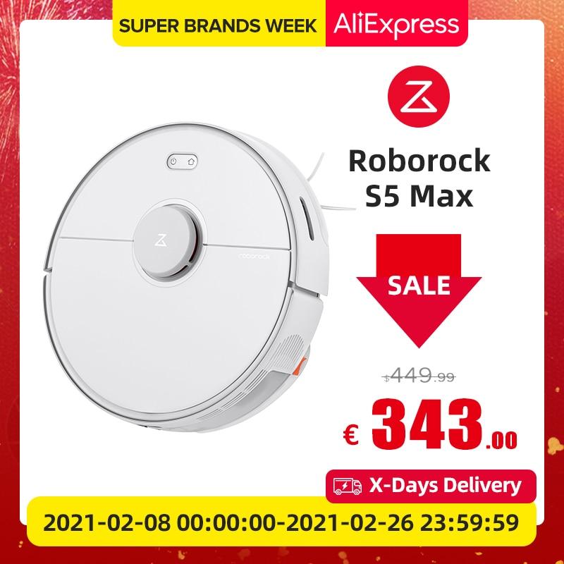 Roborock S5 max odkurzacz Wet Dry Robot mopem zamiatanie pyłu sterylizacja inteligentne planowane mycie Mop upgrade dla S50 S55