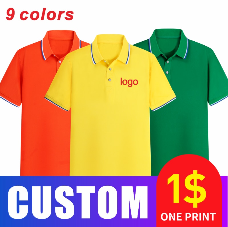 2021 summer new style custom printed logo design DIY your own personality short-sleeved Polo lapel shirt