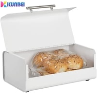 kunbei metal bread box pantry large capacity multi purpose storage container for food cookies holder home kitchen