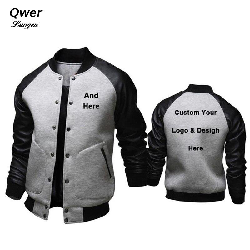 Stylish British Jackets Men Custom Logo and Design Male Hoodies Fashion Slim Baseball Jacket Costume Coat