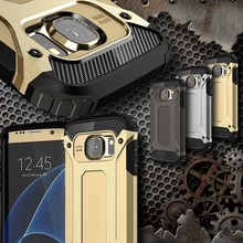Luxe Tough Duurzaam Armor Telefoon Geval Voor Samsung Galaxy S10 S8 S9 Plus S10e S5 S6 S7 Edge Hybrid PC shockproof Beschermhoes