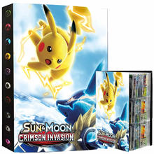432 Cards Pokemon Album Book Collection Holder Toys 9 Pocket Anime Map Game Card Binder Folder Top L