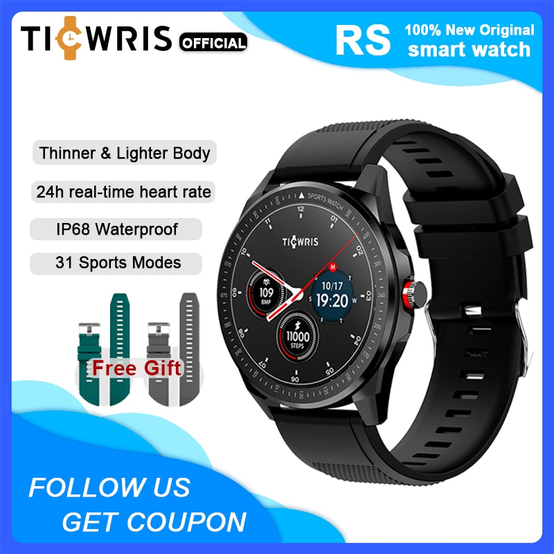 TICWRIS RS ساعة ذكية الرجال 31 وسائط رياضية IP68 مقاوم للماء بلوتوث 5.0 رقيقة جدا النساء Smartwatch 2020 للهاتف أندرويد IOS ساعة ذكية للرجل