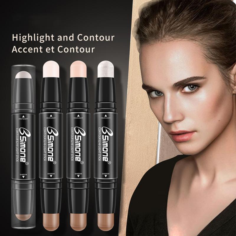2 en 1 3D bronceador resaltador Stick cubierta completa pluma para manchas base Stick crema maquillaje facial Corrector de maquillaje TSLM1