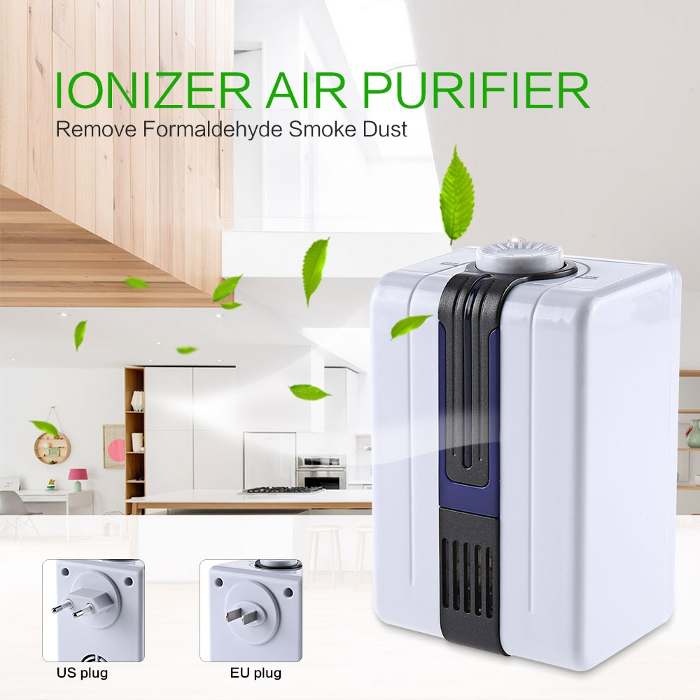 Home Ionizer Purifiers Ozonator Air Cleaner Oxygen Purify Kill Bacteria Virus Clear Peculiar Smell S