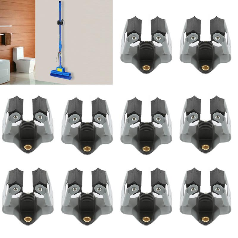 10/5 PCS/Package Hooks Clip Mop Broom Holder Brush Handle Tool Garden Anger Wall Mounted Rack For Home Bathroom Mop Clip