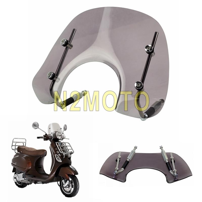 Deflector del parabrisas de la motocicleta del humo con el kit de ajuste para VESPA LX150 LX50 2005-2014