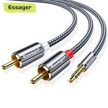 Cavo Audio Essager RCA Jack da 3.5 a 2 cavo RCA da 3.5mm Jack a 2RCA maschio Splitter cavo Aux per TV amplificatori per PC cavo per altoparlanti DVD