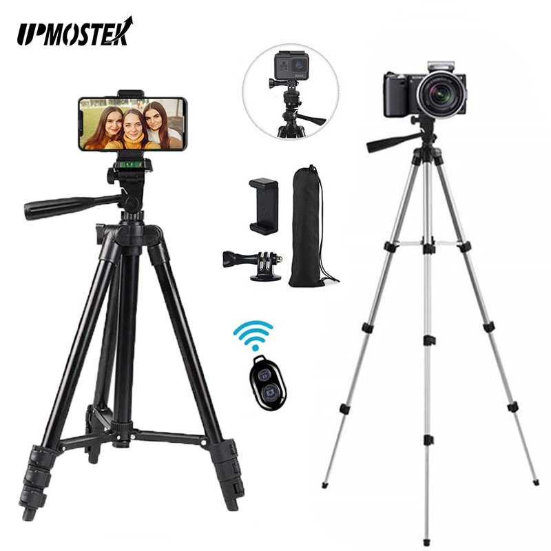 UPMOSTEK-حامل ثلاثي القوائم للهاتف الخلوي ، مع حامل ، بلوتوث ، متوافق مع IPhone ، جميع الهواتف الذكية ، كاميرا Gopro